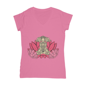 - Yoga Stile - Classic Women's V-Neck T-Shirt