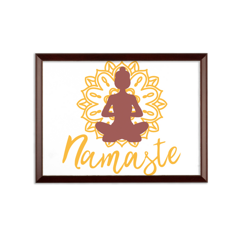 - Namaste - Sublimation Wall Plaque