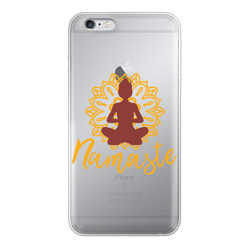 - Namaste - Back Printed Transparent Soft Phone Case