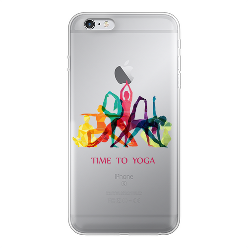 Time to Yoga Back Printed Transparent Soft Phone Case