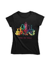Laden Sie das Bild in den Galerie-Viewer, - Unisex-T-Shirt - Time to Yoga -