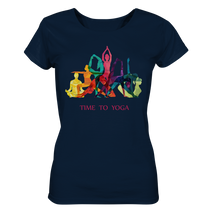 Laden Sie das Bild in den Galerie-Viewer, - Time to Yoga -  - Ladies Organic Shirt