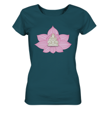 Laden Sie das Bild in den Galerie-Viewer, - Yoga Flower II - - Ladies Organic Shirt