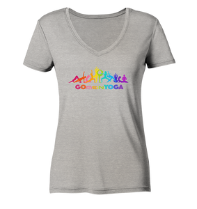 - GmY_Ashik_ - - Ladies Organic V-Neck Shirt