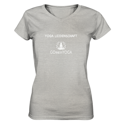- Yoga Leidenschaft -  - Ladies V-Neck Shirt