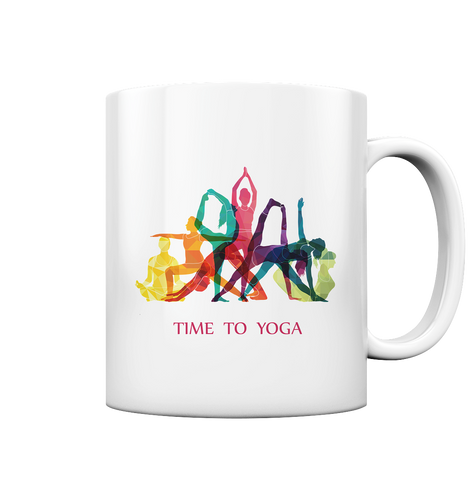 Time to Yoga - Tasse glossy