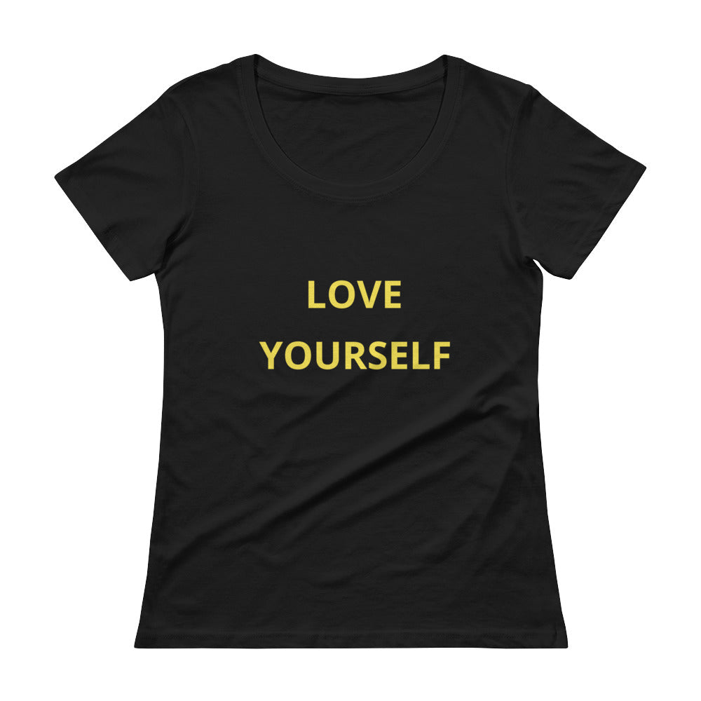 Damen Scoopneck T-Shirt - Love Yourself -