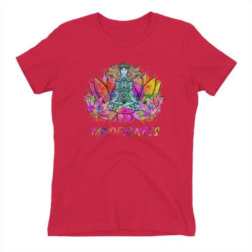Frauen T-Shirt - Aquarell Yoga Stile -