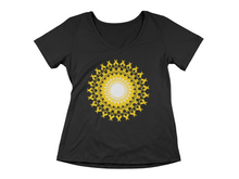 "Laden Sie das Bild in den Galerie-Viewer, - ""Solarplexus - Chakra""- Bringt die Sonnenkraft -  - Ladies Organic V-Neck Shirt"