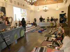 Green tea and yoga event