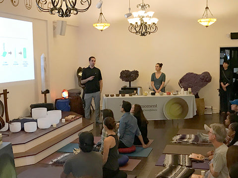 Yoga event with green tea