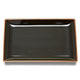 Hakusan Porcelain Shihou Rectangle Plate Black