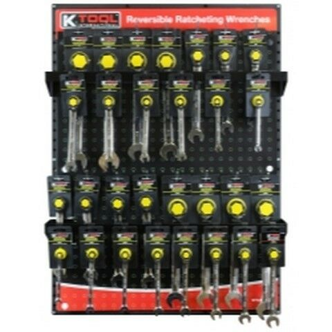 Reversible Ratcheting Wrenches Display KTI0842