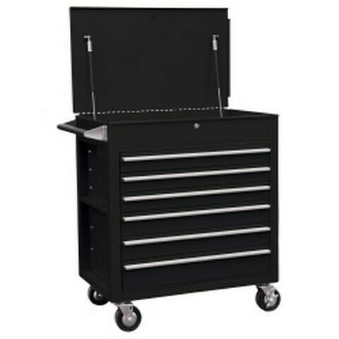 Sunex Tools 6-Drawer Full-Drawer Professional Cart Black SUN8057BK