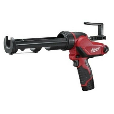 Milwaukee M12 10 oz Cordless Caulk / Adhesive Gun w/ Battery Charger Kit