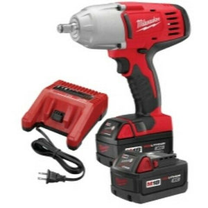 Milwaukee M18 Cordless 1/2 in Drive High Torque Impact Wrench and Friction RIng