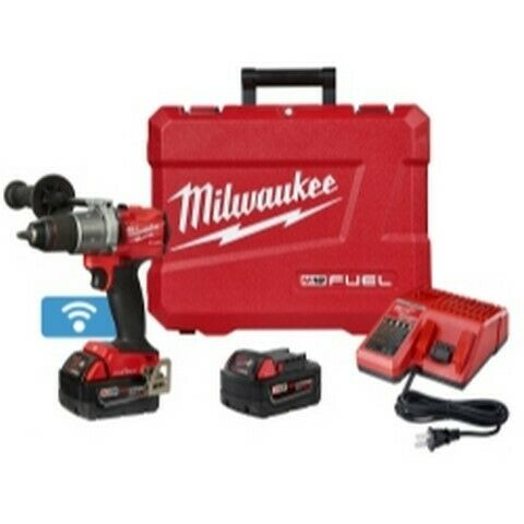 Milwaukee M18 FUEL 1/2 in Drill with One Key w/ 2 Batteries Kit MLW2805-22
