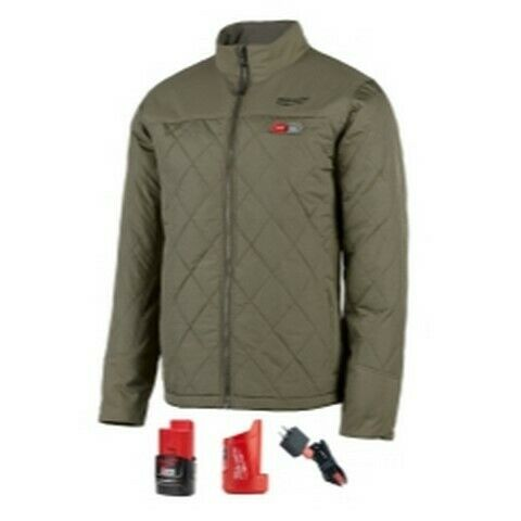 Milwaukee M12 Heated Axis Jacket Kit Size Small Olive Green MLW203OG-21S