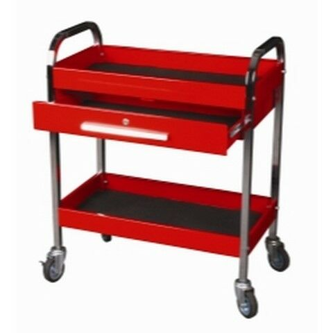 Steel Service Tool Cart with 1-Drawer and 2 Shelves KTI75105