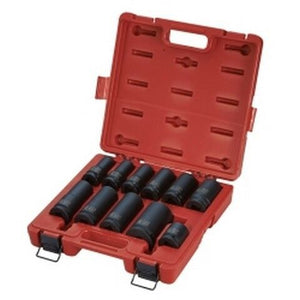"3/4"" Drive Wheel Service Impact Socket Set 11 Pieces SUN4632"