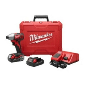 Milwaukee M18 1/4 in Hex Impact Driver w/ 2 Batteries Kit MLW2656-22CT