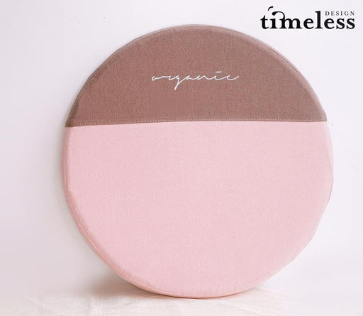 Anika Memory Foam Seat Pad -Pink with Brown - Timeless Design