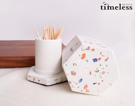 Caylin Terrazzo Toothpick Holder - Timeless Design