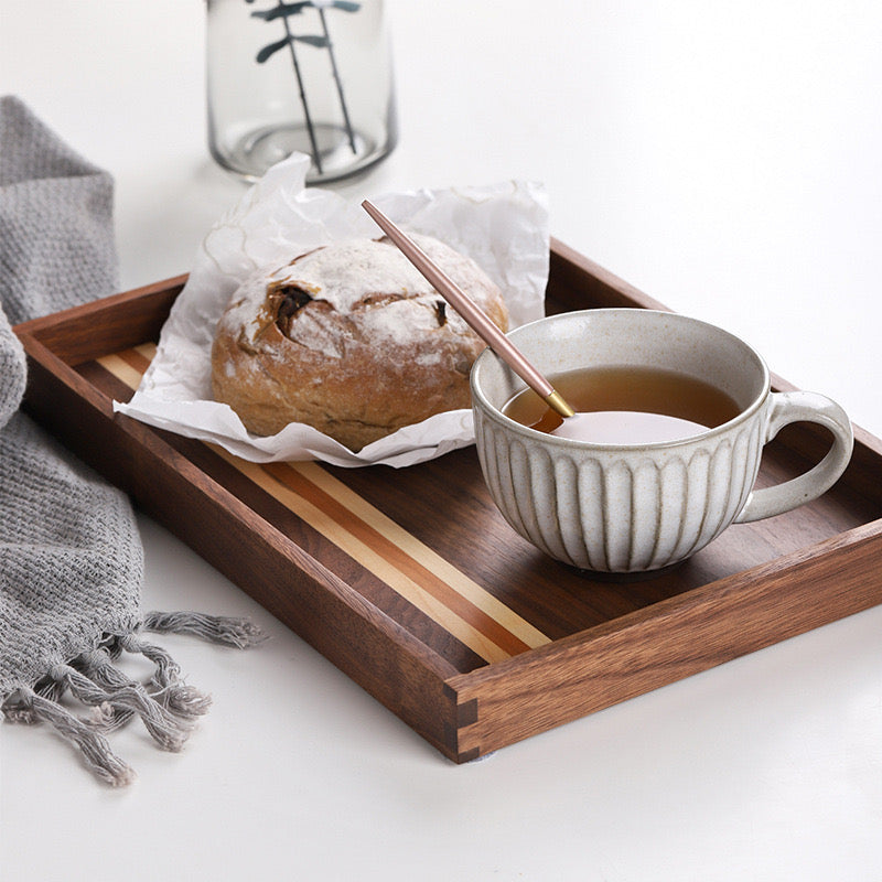 Ally Walnut Strip Serving Tray - Timeless Design