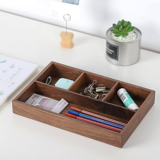 Ally Walnut Desktop Storage Tray - Timeless Design