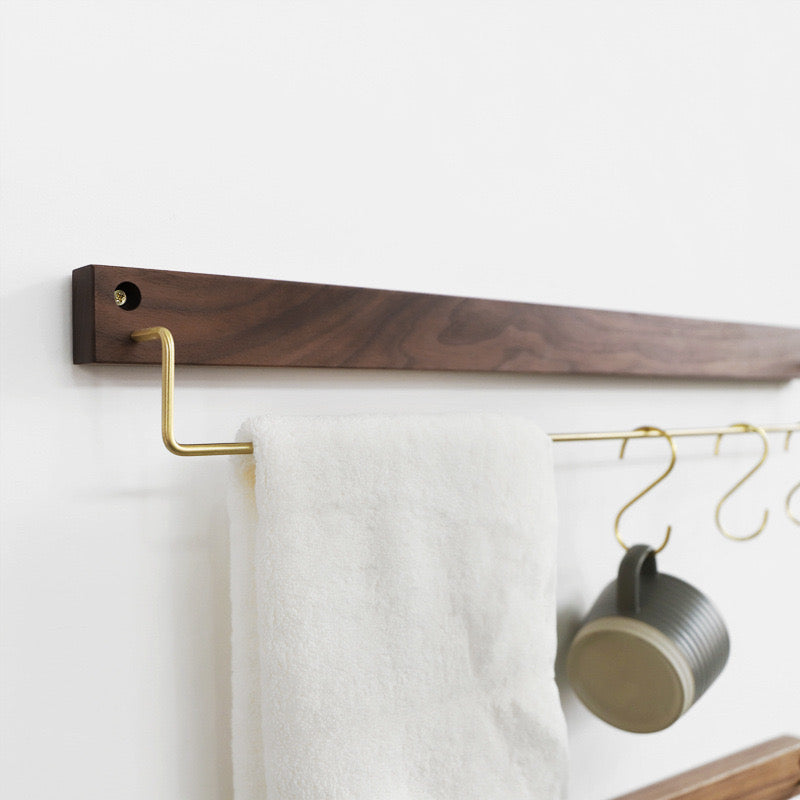 Hugo Walnut Cloth Hanger (L) - Timeless Design