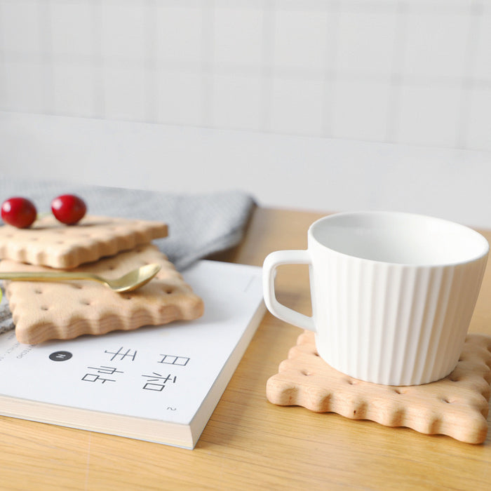 Ally Biscuit Wood Coaster - Timeless Design