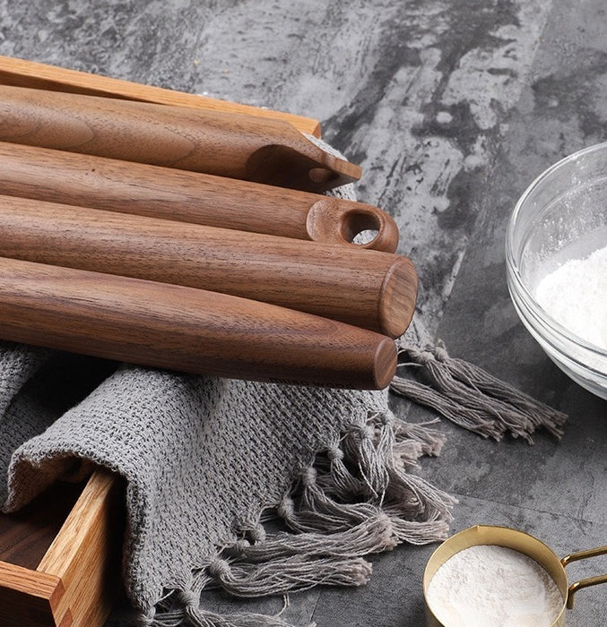 Ally Walnut Wood Rolling Pin (C) - Timeless Design