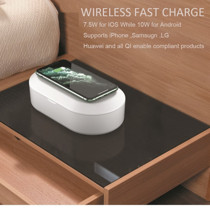 Johnex Wireless Charges With UV Sterilizing Box - Timeless Design