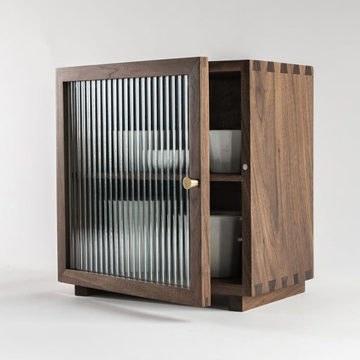 Naoki 1 Corrugated Glass Door Cabinet (S)