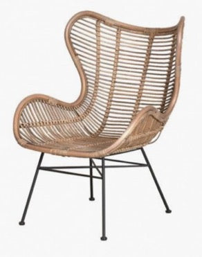 Pigeon Wicker Lounge Chair - Timeless Design
