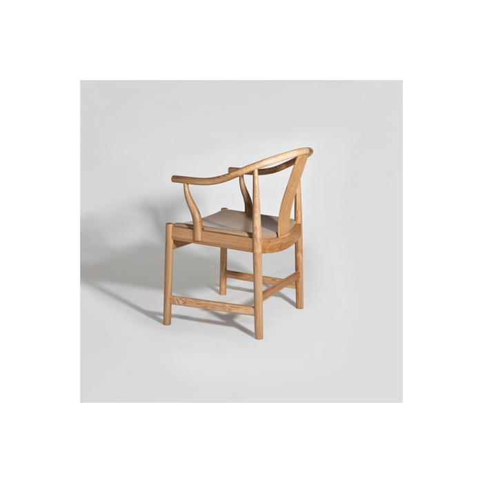 Qing II Chair (Leather Seat) - Timeless Design