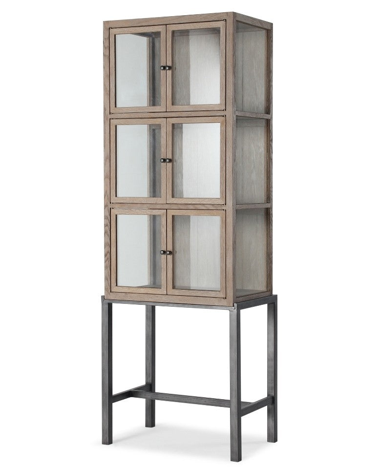 Burano 2 Door Narrow Cabinet - Timeless Design
