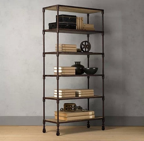 Clover 6 Tier Bookcase W/O Wheel - Timeless Design