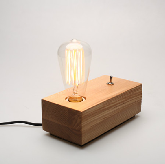 Loft  Edison Wooden Lamp-Base - Timeless Design