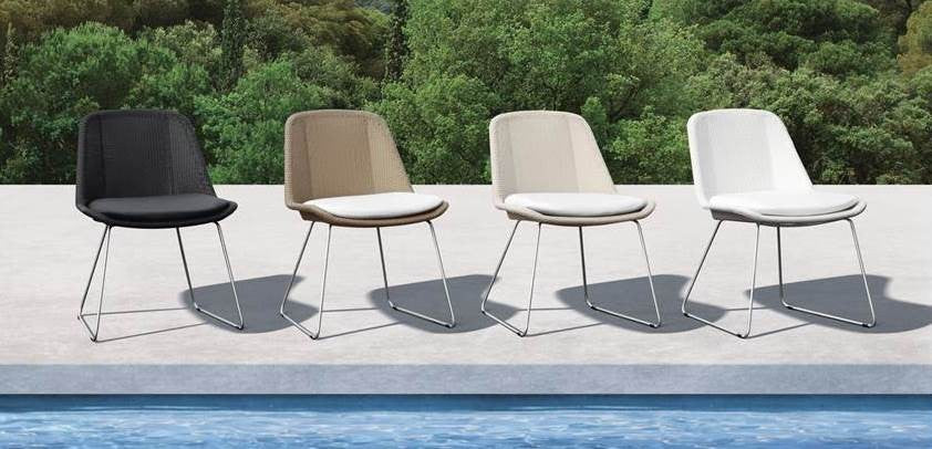 Felicia Wicker Chair W/Seat Pad - Timeless Design