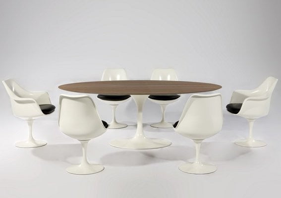 Hella Tulip Oval Table Wooden Top - Timeless Design