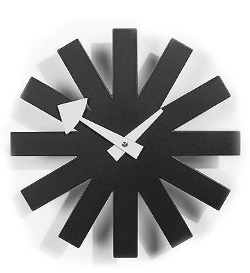 Black Asterisk Clock - Timeless Design