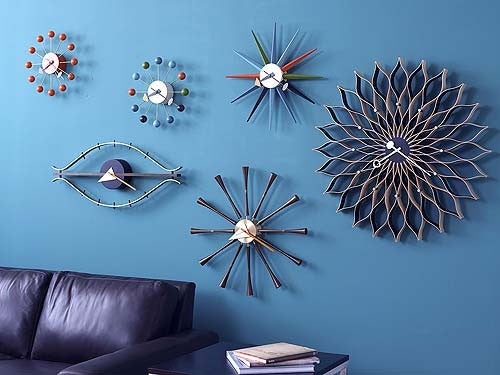 Multi Colored Sunburst Clock - Timeless Design