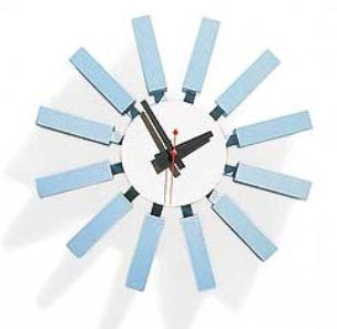 Blue Block Clock - Timeless Design