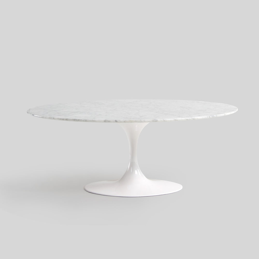 Hella Marble Oval Coffee Table - Timeless Design