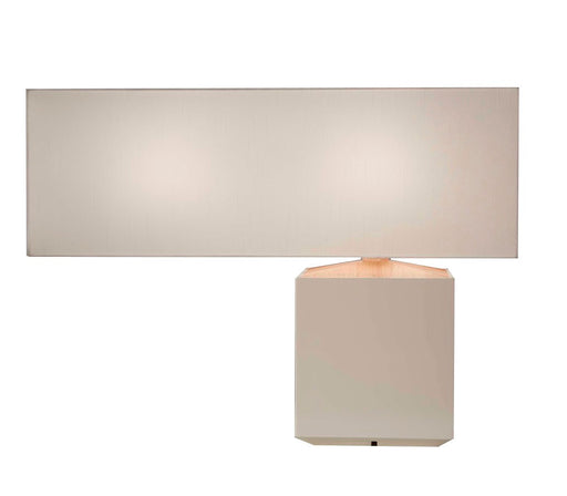 Luminax Wooden Table Lamp_White - Timeless Design