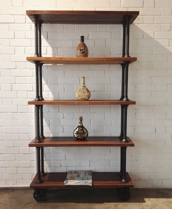 Nevis 5 Tier Bookcase with Wheel - Timeless Design