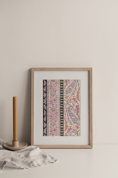 No.048 - Paisley Matrix  - Vintage Archive Poster Prints