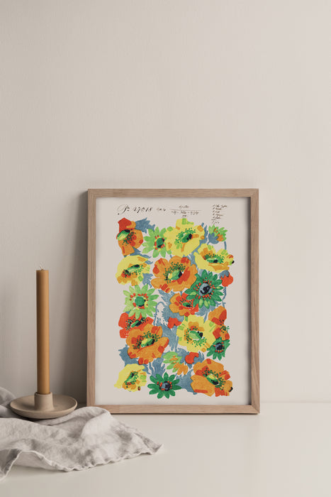 Summer Poppies - Vintage Archive Poster Prints