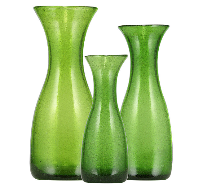 BRITISH COLOUR STANDARD - 23.5cm H / 9.25'' Apple Green Handmade Glass Carafe 0.50 Clt / 0.5 Quart
